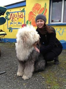 My new friend in Strandhill
