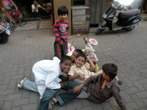Street kids in Mumbai