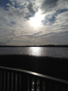 Morning view at Wineport Lodge